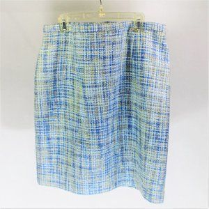 Karen Scott | Blue Tweed Skirt